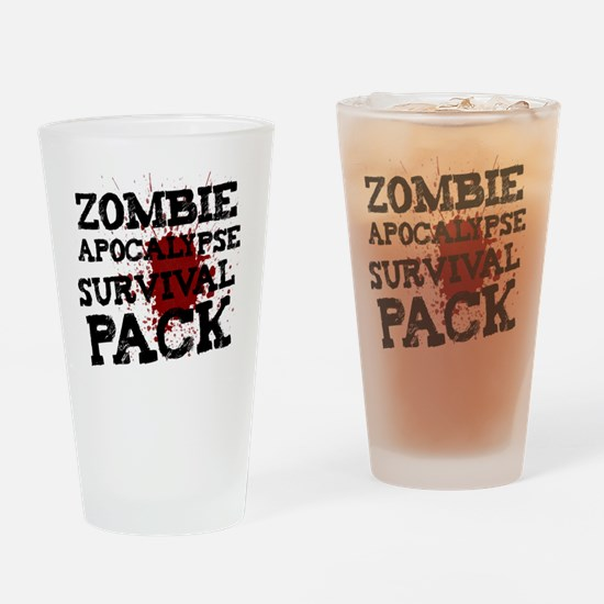 Zombie Apocalypse Survival Pack Drinking Glass