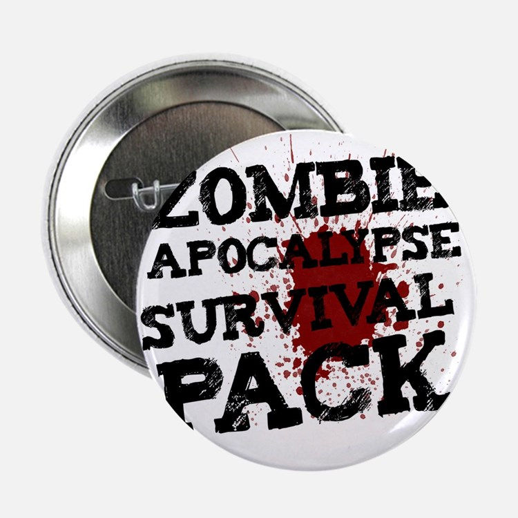 "Zombie Apocalypse Survival Pack 2.25"" Button"