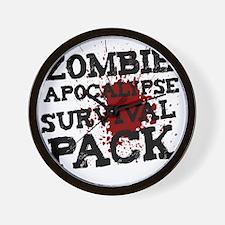 Zombie Apocalypse Survival Pack Wall Clock