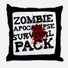 Zombie Apocalypse Survival Pack Throw Pillow