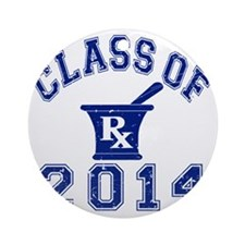 Class Of 2014 Pharmacy Round Ornament
