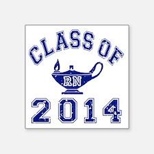 "Class Of 2014 RN Square Sticker 3"" x 3"""