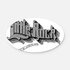 Little Rock Arkansas Oval Car Magnet