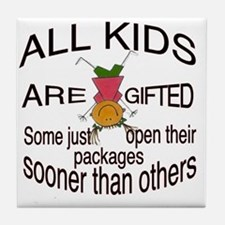 Gifted Kids Tile Coaster