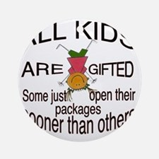 Gifted Kids Round Ornament