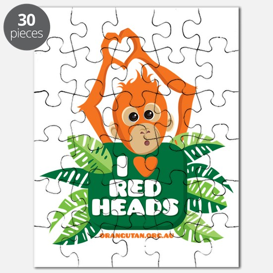 I Love (heart) Red ... Puzzle