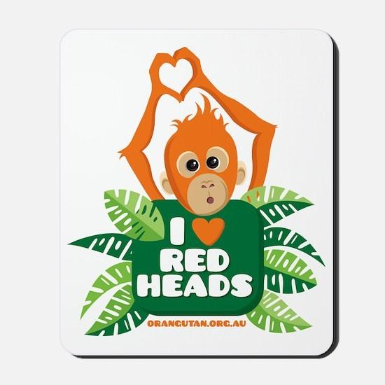 I Love (heart) Red ... Mousepad