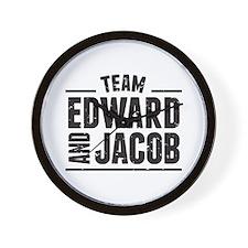 Team Edward and Jacob Wall Clock