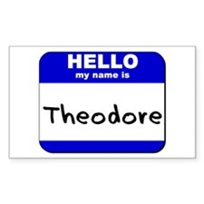 hello my name is theodore Rectangle Decal