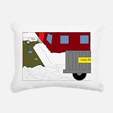 Shoveling snow Rectangular Canvas Pillow