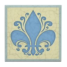 fleur-antique-blu-PLLO Tile Coaster
