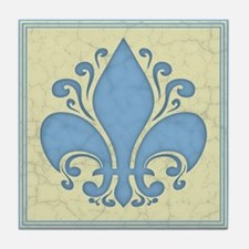 fleur-antique-blu-PLLO Tile Coaster