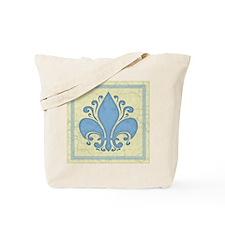 fleur-antique-blu-PLLO Tote Bag