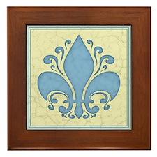 fleur-antique-blu-PLLO Framed Tile