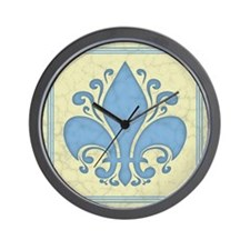 fleur-antique-blu-PLLO Wall Clock