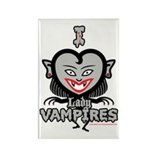 I Heart Lady Vampires Rectangle Magnet