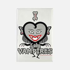 I Heart Lady Vampires Rectangle Magnet
