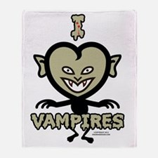 I Heart Vampires Throw Blanket
