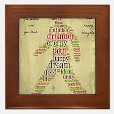 positive thoughts Framed Tile