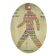 positive thoughts Oval Ornament