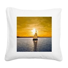 Sailing into the sunset Square Canvas Pillow