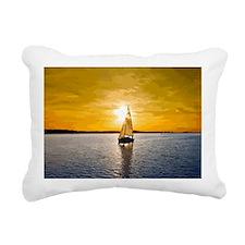Sailing into the sunset Rectangular Canvas Pillow