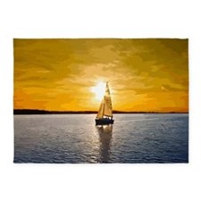 Sailing into the sunset 5'x7'Area Rug