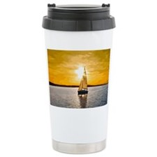 Sailing into the sunset Travel Coffee Mug