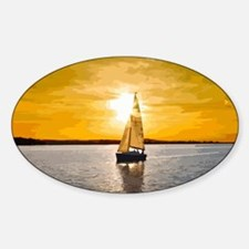 Sailing into the sunset Decal