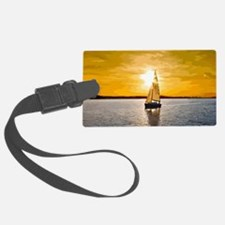 Sailing into the sunset Luggage Tag