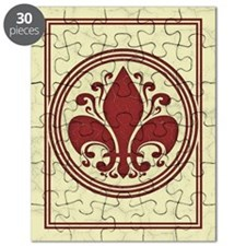 fleur-antique-red-CRD Puzzle