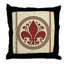 fleur-antique-red-CRD Throw Pillow