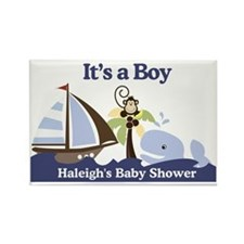 Haleighs Baby Shower Sign Rectangle Magnet