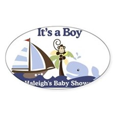 Haleighs Baby Shower Sign Decal