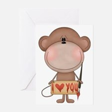 I love you- monkey Greeting Card
