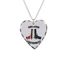Second Amendment Necklace Heart Charm