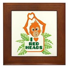 I Love (heart) Red H... Framed Tile