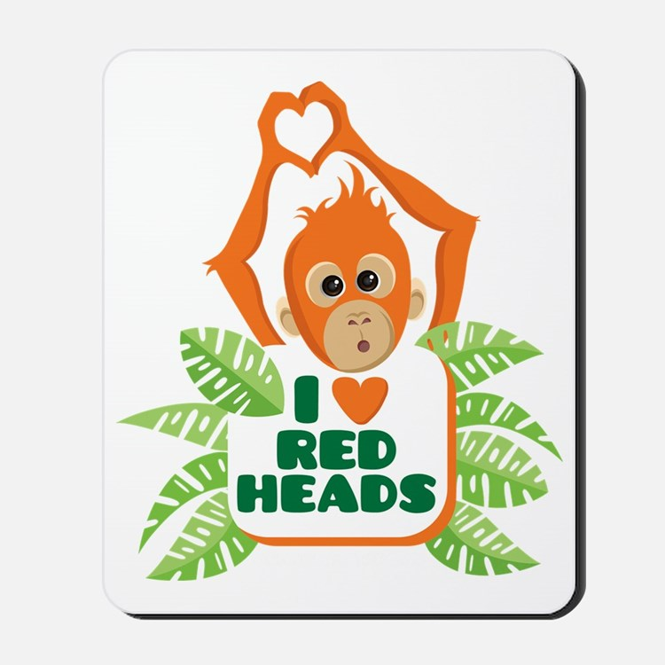 I Love (heart) Red H... Mousepad