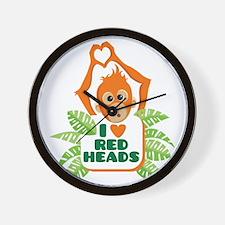 I Love (heart) Red H... Wall Clock