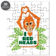 I Love (heart) Red H... Puzzle