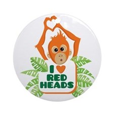 I Love (heart) Red H... Round Ornament