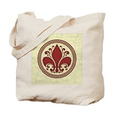 fleur-antique-red-BUT Tote Bag