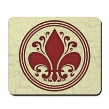 fleur-antique-red-BUT Mousepad