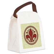 fleur-antique-red-BUT Canvas Lunch Bag