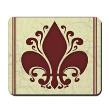 fleur-antique-red-PLLO Mousepad