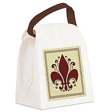 fleur-antique-red-PLLO Canvas Lunch Bag