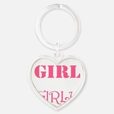 Just because Im a Girl doesnt mean  Heart Keychain