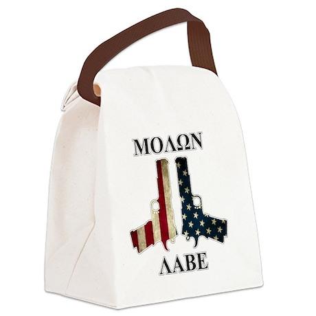 Molon Labe (Come and Take Them) Canvas Lunch Bag