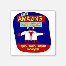 "The Amazing Lab Crab Square Sticker 3"" x 3"""