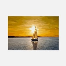 Sailing into the sunset Rectangle Magnet